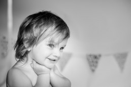 Black and White childrens photographer in suffolk